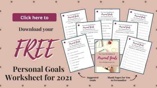 Personal Goals List New Years Resolutions Free Printable Download and Worksheet-2