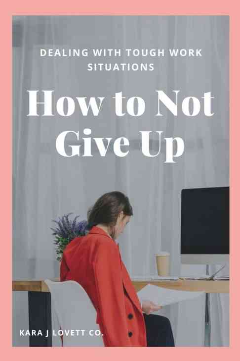 How to Not Give Up - 2
