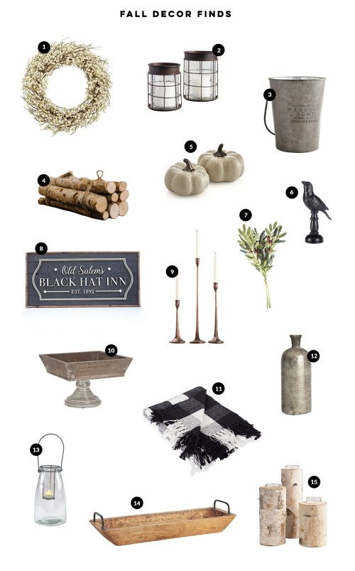 Favorite Fall decor finds for the season! From wreaths to lanterns and everything under $100. #Fall #FallDecor #FallDecorIdeas #ModernFarmhouse #FallDecorations #FallDecorIdeasForTheHome