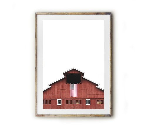 Fine art for the Southern home! Beautiful photography and typography prints created by Kara Layne now available to purchase from the Kara Layne Shop. Come and browse the collection and find something you love and enjoy it in your own home! #WallArtIdeas #ScenesOfTheSouth #SoutherLiving #ModernFarmhouseDecorIdeas #FineArtPrints #Barn #AmericanFlag