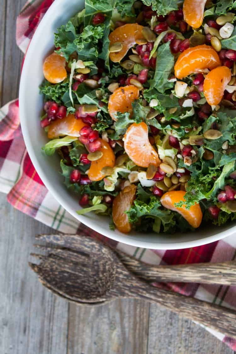 Holiday Winter Salad with Pomegranate and Satsuma-2