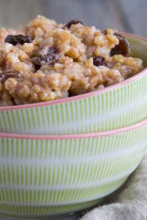 Coconut Brown Rice Pudding | @TheFoodieDietiian