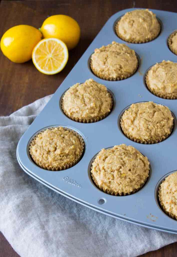 Whole Wheat Meyer Lemon Ricotta Muffins | @TheFoodieDietitian