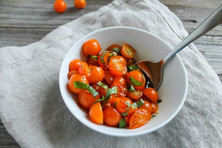 Five Ingredient Tomato Salad-