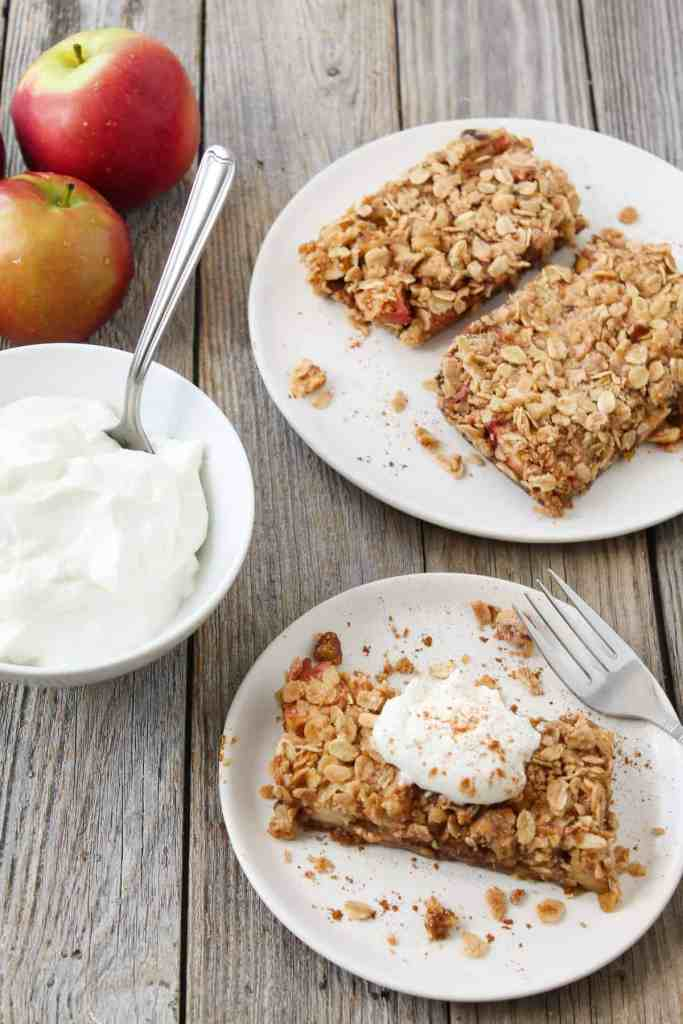 No Bake Vegan Apple Pie Bars are super easy to make and you don't have to turn on the oven or roll out dough!