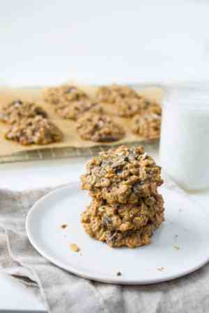 Vegan Peanut Butter Chocolate Chunk Oatmeal Cookies