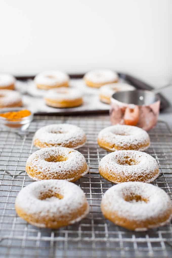 Whole Wheat Turmeric Honey Donuts