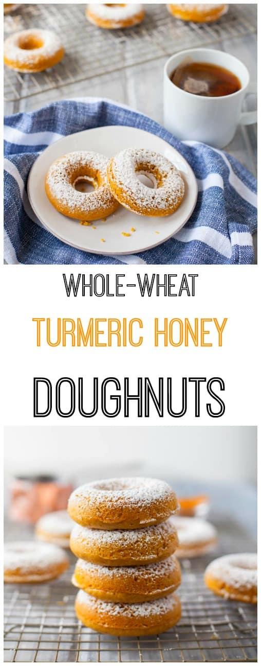 whole wheat turmeric honey doughnuts-pin