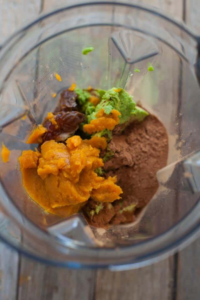 chocolate pumpkin avocado pudding
