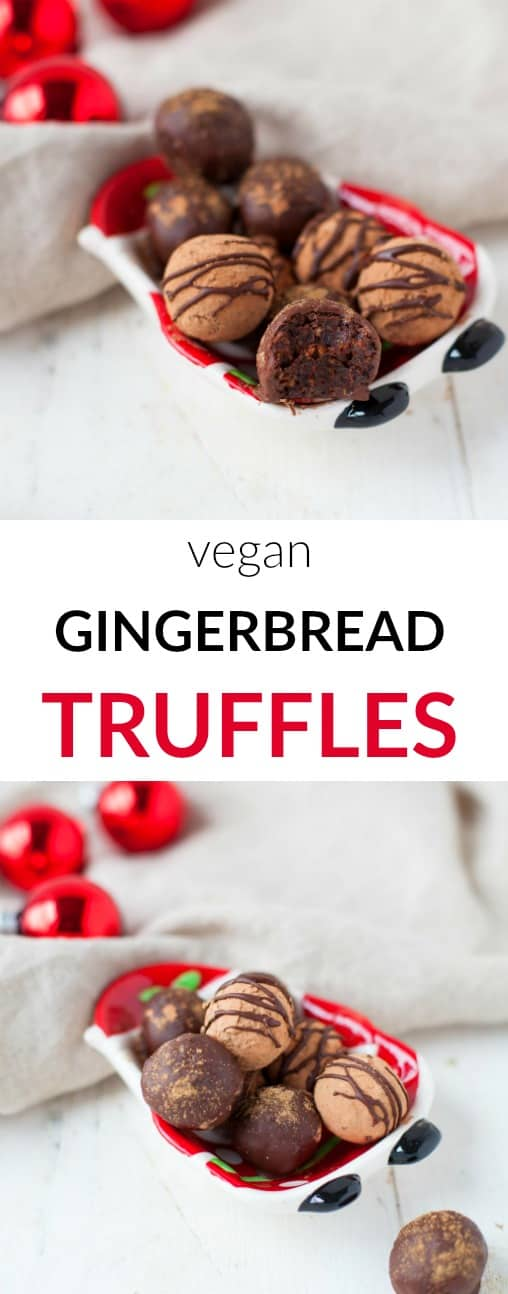 Sweet and spice and everything nice. These raw vegan gingerbread truffles are deliciously decadent tasting and good for you, perfect as a holiday gift for your favorite healthy foodie.