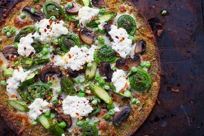Farmer's Market Spring Vegetable Pizza