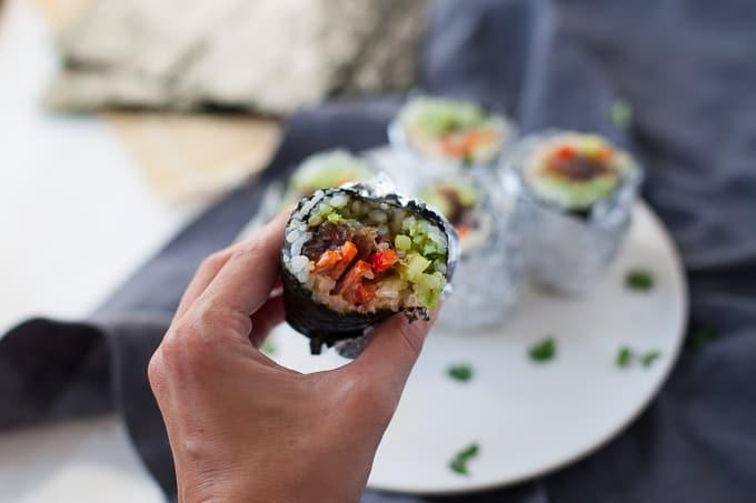 Mini Sushi Burritos (gf)