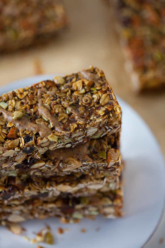 Healthy Gingerbread Granola Bars