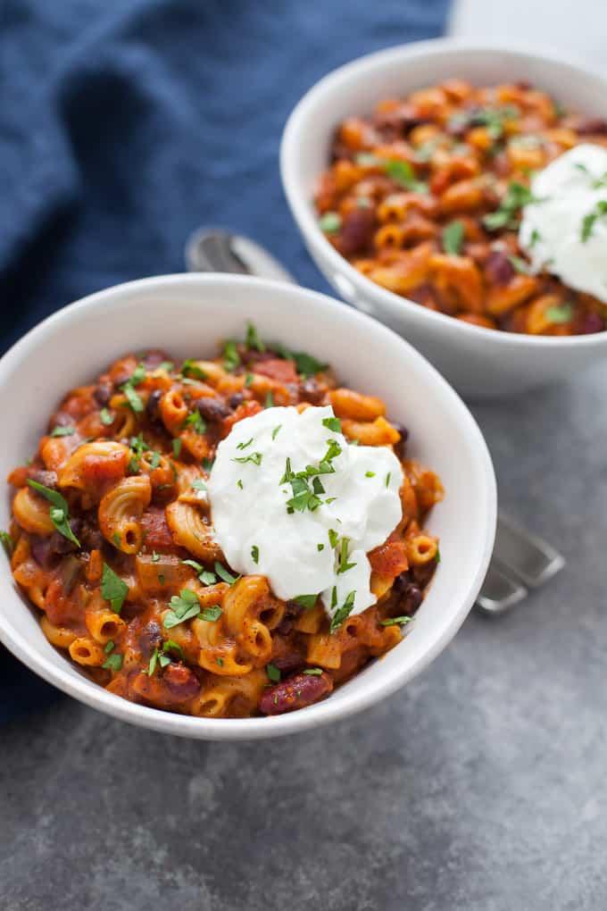 Instant Pot Vegetarian Chili Mac
