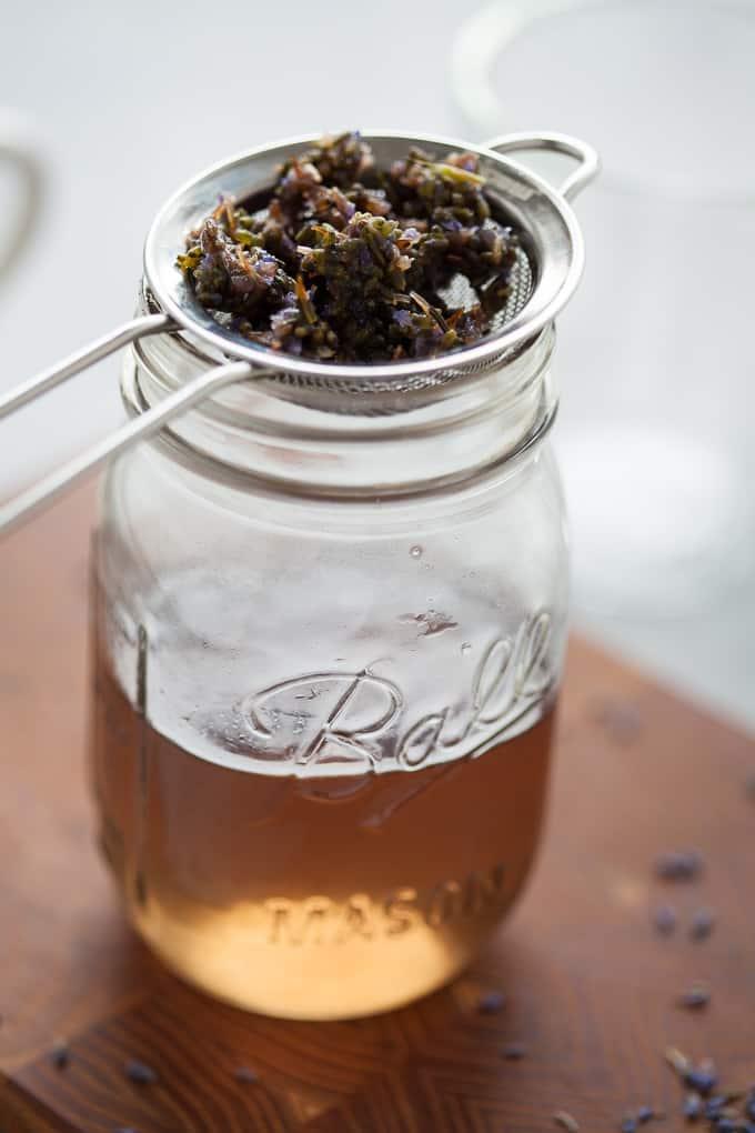 DIY lavender simple syrup recipe