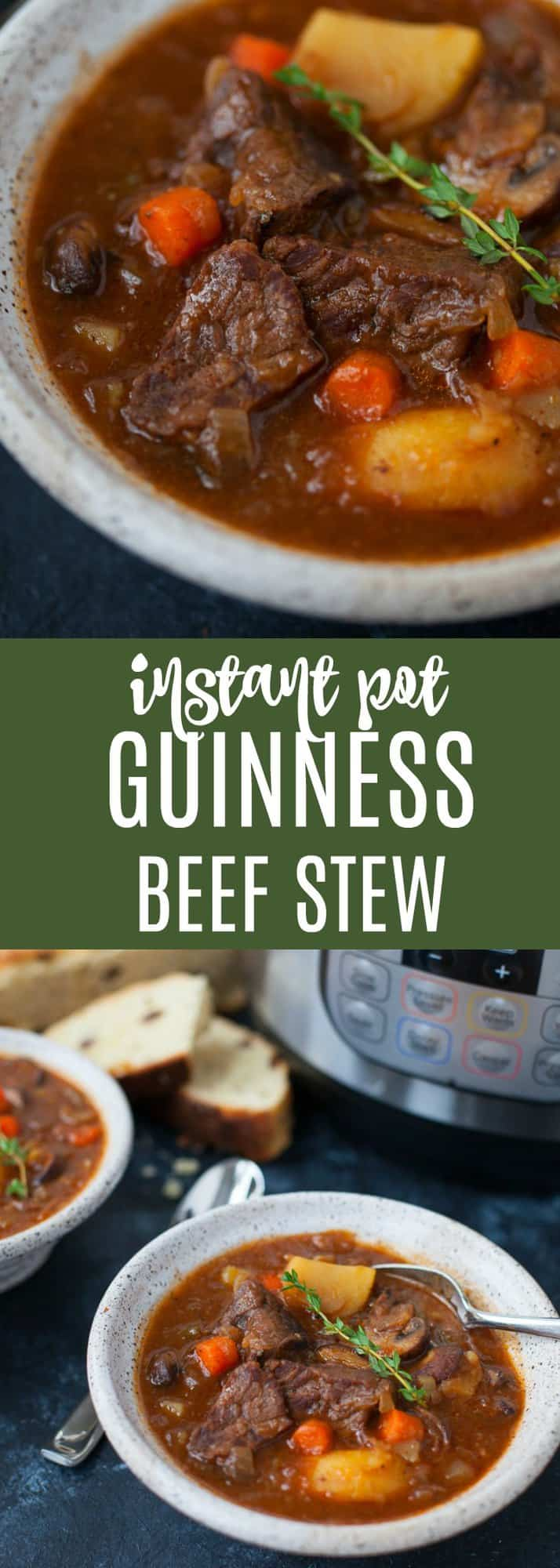 Super hearty and inherently Irish, this Instant Pot Guinness Beef Stew is the perfect recipe for a St. Patrick's Day feast.
