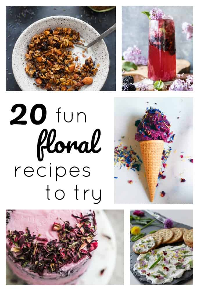 Flowers are pretty, but they're not just for the garden! In fact, floral flavors are one of the top food trends sweeping the nation this year. Bring floral flavors into your kitchen this spring + summer with one of these fun recipes! #florals #floralflavors #lavender #hibiscus #rose