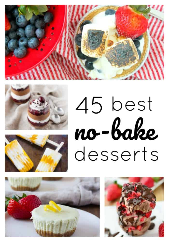 Now that summer's in full swing, I'm aaallll about the no-bake dessert. Easy. Cool. And no oven required. What's not to love?! Perfect to eat around the pool, share at a backyard cookout, or enjoy at any summer gathering (hellooo 4th of July!), these 45 Best No-Bake Desserts are the perfect summertime sweets!