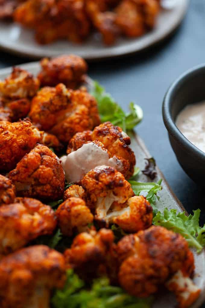 vegetarian harissa cauliflower wings