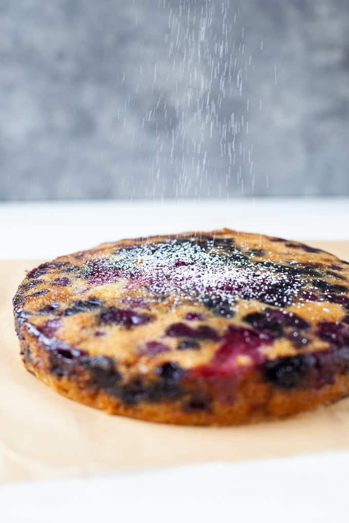Triple Berry Upside Down Cake #vegan