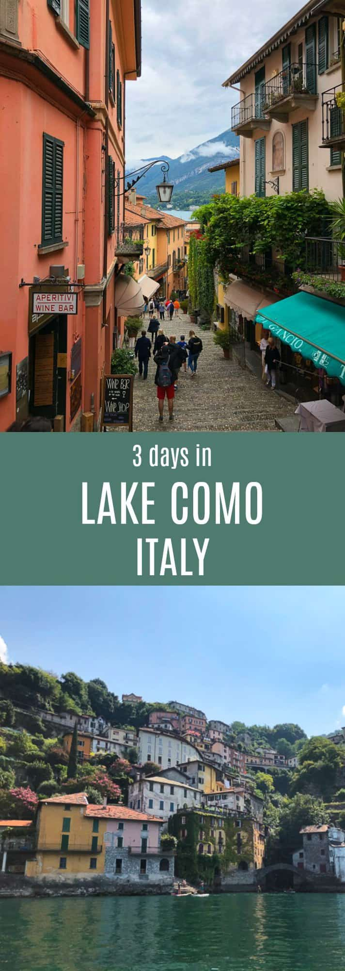 A guide for what to see and where to eat during 3 days in Lake Como, Italy. #travel #italy #lakecomo