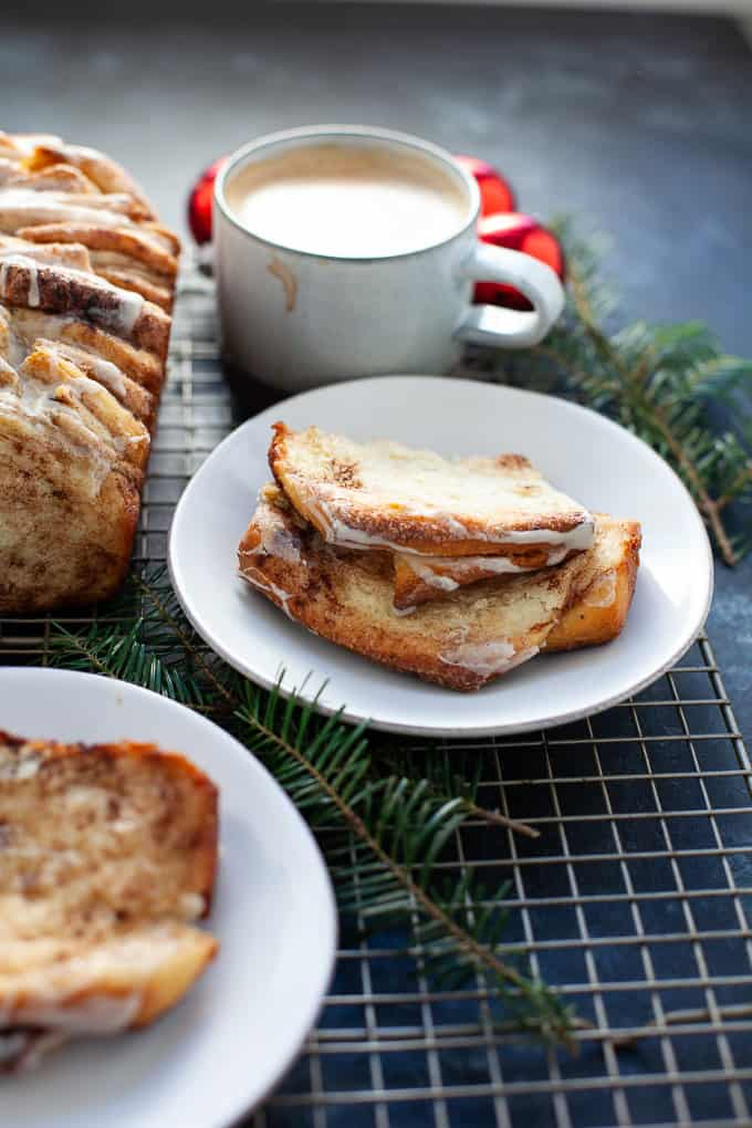 eggnog pull-apart bread, perfect for the holidays!