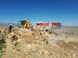 Karaman'da saman yangını
