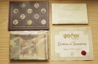 The collectibles from the Box Set