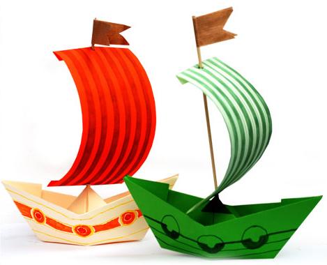Hoe maak je een boot van papier? Instructies voor opvouwbare papieren boot Doe het zelf fase 6