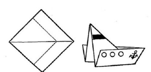 Hoe maak je een boot van papier? Instructies Forking Paper Boat Do It Yourself Stage 39