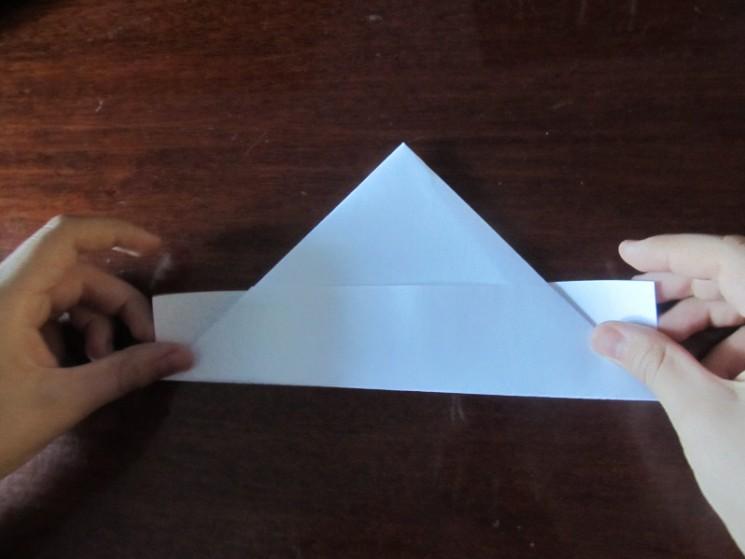 Hoe maak je een boot van papier? Instructie opvouwbare papieren boot doe het zelf Stap 15