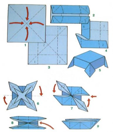 How to make a boat from paper? Instruction folding paper boat do it yourself step 43