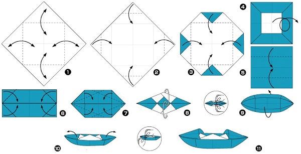Hoe maak je een boot van papier? Instructies voor opvouwbare papierboot Doe het zelf fase 44
