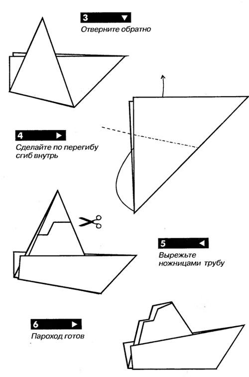 Как сделать кораблик из бумаги? Инструкция складывания бумажного кораблика своими руками этап 47