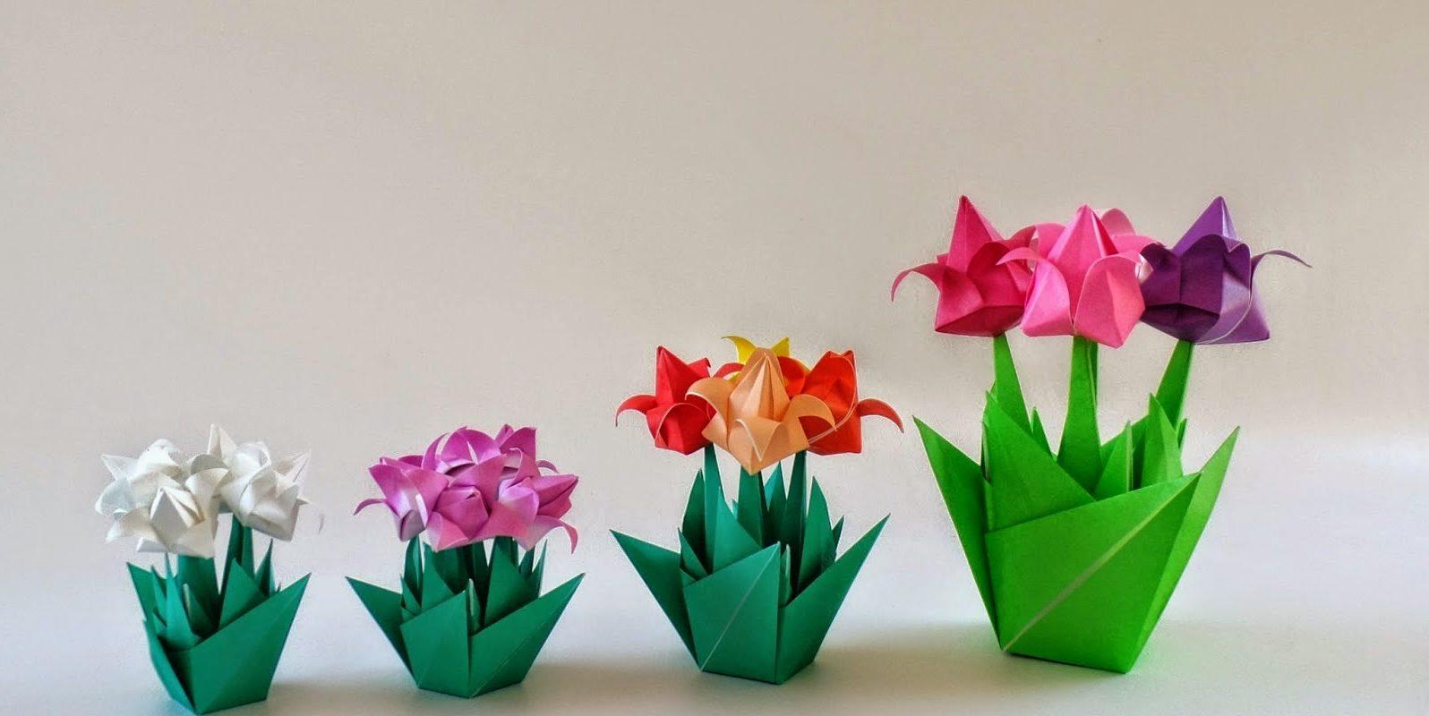 Поздравления марта, оригами тюльпан на открытку