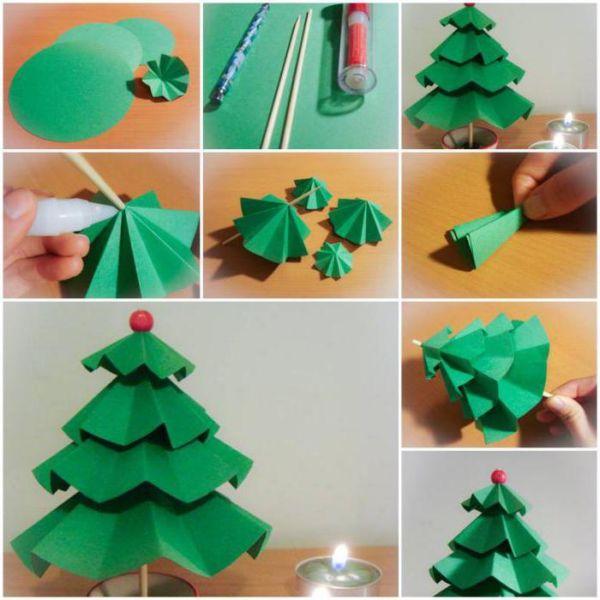 DIY juletræ til nytår & # 8212; fotoideer og mesterklasser trin 92