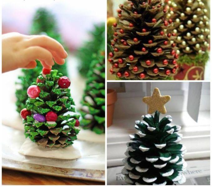 DIY juletræ til nytår & # 8212; fotoideer og mesterklasser trin 52