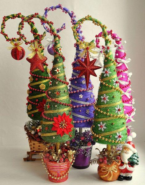 Χριστουγεννιάτικο δέντρο με τα χέρια σας για το Νέο Έτος & # 8212; Ιδέες φωτογραφιών και κύρια μαθήματα Στάδιο 28