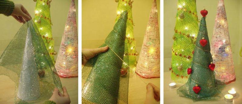 ต้นคริสต์มาส DIY สำหรับปีใหม่ & # 8212; ไอเดียภาพถ่ายและมาสเตอร์คลาสขั้นที่ 14