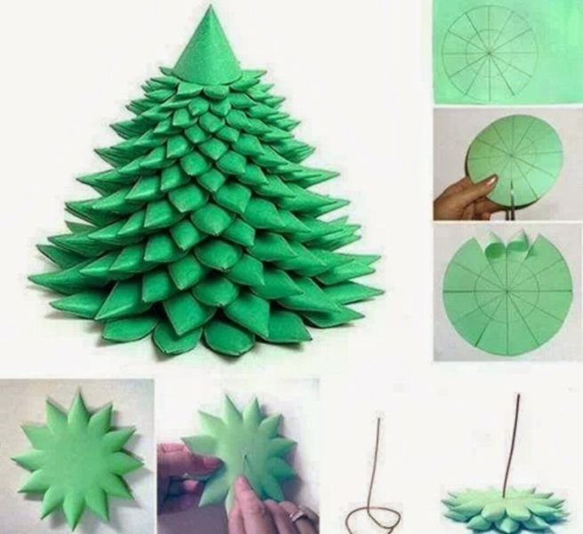 DIY Christmas tree for New Year & # 8212; photo ideas and master classes stage 17