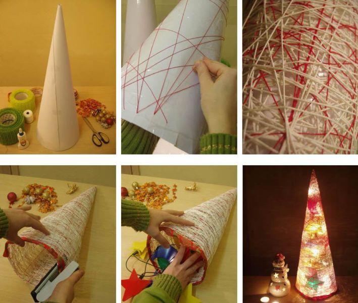 DIY juletræ til nytår & # 8212; fotoideer og mesterklasser trin 19