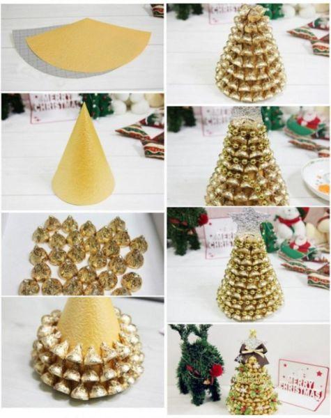 Χριστουγεννιάτικο δέντρο με τα χέρια σας για το Νέο Έτος & # 8212; Ιδέες φωτογραφιών και κύρια μαθήματα Στάδιο 13