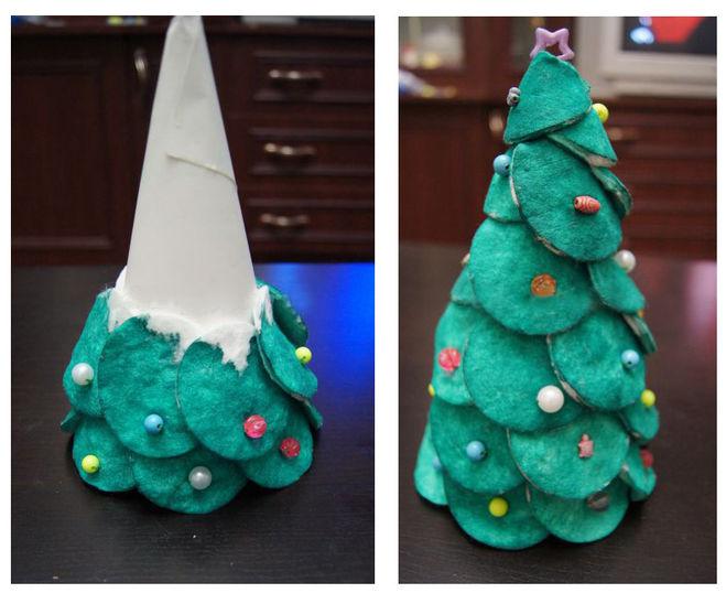 Tělor strom z papíru & # 8212; Schémata a šablony k vytvoření vánočního stromu s vlastními rukama 97