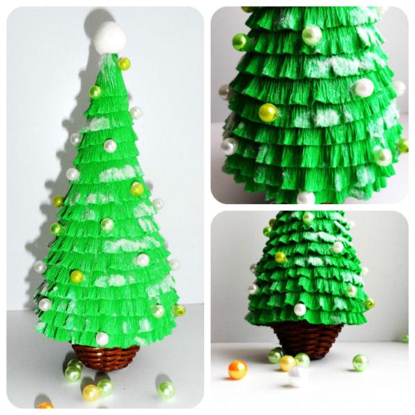 Tělor strom z papíru & # 8212; Schémata a šablony k vytvoření vánočního stromu s vlastními fází rukou 55