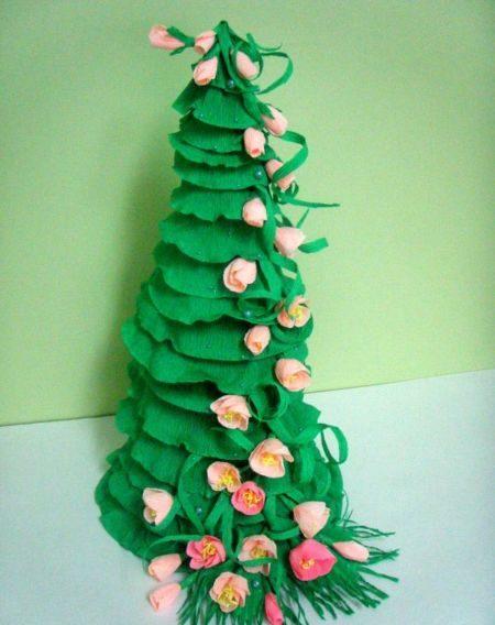 Tělor strom z papíru & # 8212; Schémata a šablony k vytvoření vánočního stromu s vlastními fází rukou 59