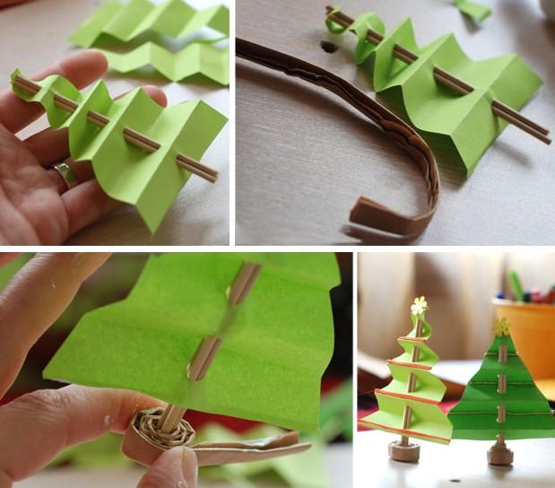 Tělor strom z papíru & # 8212; Schémata a šablony k vytvoření vánočního stromu s vlastními rukama