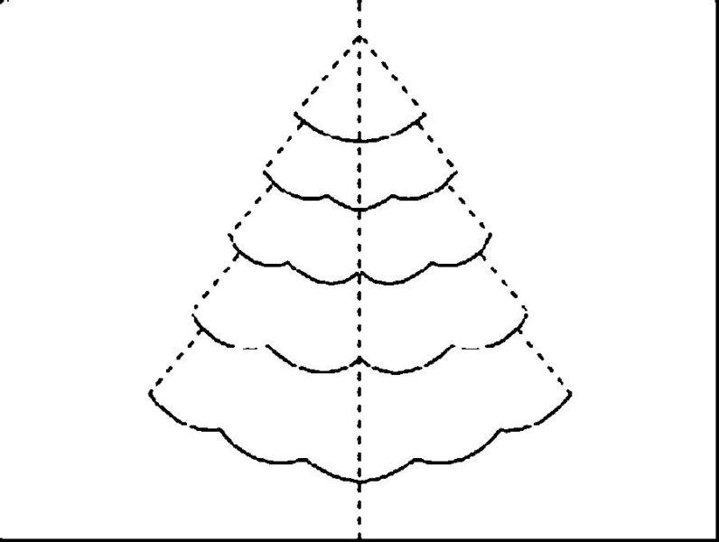 Tělor strom z papíru & # 8212; Schémata a šablony k vytvoření vánočního stromu s vlastní fázi rukou 12