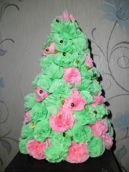 Tělor strom z papíru & # 8212; Schémata a šablony k vytvoření vánočního stromu s vlastními fází rukou 86