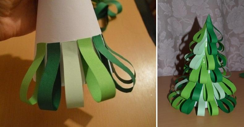 Tělor strom z papíru & # 8212; Schémata a šablony k vytvoření vánočního stromu s vlastními fází rukou 21