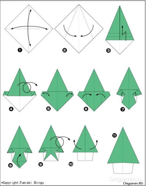 Tělor strom z papíru & # 8212; Schémata a šablony k vytvoření vánočního stromu s vlastní fází rukou 46